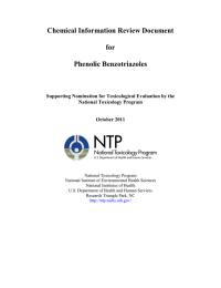 Chemical Information Review Document  for Phenolic Benzotriazoles