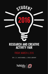 2016 STUDENT RESEARCH AND CREATIVE ACTIVITY FAIR