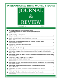 JOURNAL & REVIEW INTERNATIONAL THIRD WORLD STUDIES