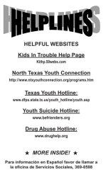 HELPFUL WEBSITES Kids In Trouble Help Page North Texas Youth Connection