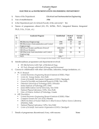 Evaluative Report of ELECTRICAL & INSTRUMENTATION ENGINEERING DEPARTMENT