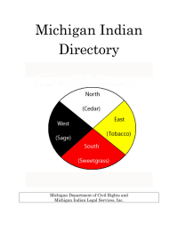 Michigan Indian Directory  Michigan Department of Civil Rights and