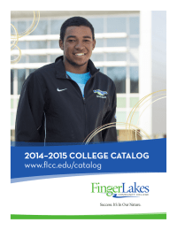 2014–2015 COLLEGE CATALOG www.flcc.edu/catalog
