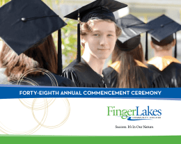 FORTY-EIGHTH ANNUAL COMMENCEMENT CEREMONY