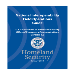 National Interoperability Field Operations Guide Version 1.5