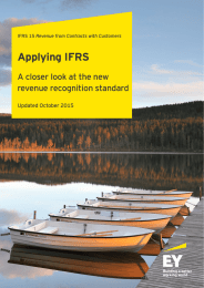 Applying IFRS A closer look at the new revenue recognition standard