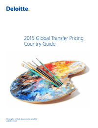 2015 Global Transfer Pricing Country Guide Planning for methods, documentation, penalties
