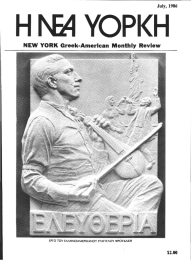 NEW YORK Greek-Amerlcan  Monthly Review ' $2.00