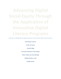 Advancing Digital  Social Equity Through  the Application of  Innovative Digital