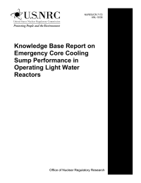 Knowledge Base Report on Emergency Core Cooling Sump Performance in
