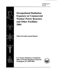 Occupational  Radiation Exposure  at Commercial Nuclear  Power Reactors