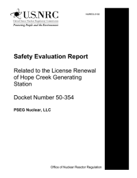 Safety Evaluation Report Related to the License Renewal of Hope Creek Generating