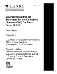 Environmental Impact Statement for the Combined License (COL) for Enrico Fermi Unit 3