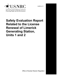 Safety Evaluation Report Related to the License Renewal of Limerick