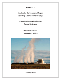 Appendix E  Applicant's Environmental Report Operating License Renewal Stage