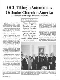 OCL Tilting to Autonomous Orthodox Church in America G I