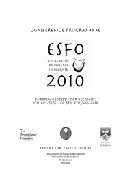 CONFERENCE PROGRAMME EUROPEAN SOCIETY FOR OCEANISTS 8TH CONFERENCE  5th-8th july 2010