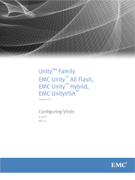 Unity Family EMC Unity All Flash,