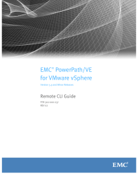 EMC PowerPath/VE for VMware vSphere Remote CLI Guide