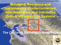 Managing Resilience and Sustainability of Interconnected, Interdependent, and Interactive Critical Infrastructure Systems