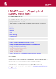LAC 67/2 (rev4.1) - Targeting local authority interventions Local authority circular