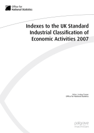 Indexes to the UK Standard Industrial Classification of Economic Activities 2007