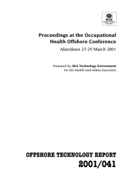 2001/041 OFFSHORE TECHNOLOGY REPORT Proceedings at the Occupational Health Offshore Conference