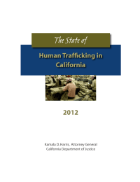 The State of Human Trafficking in California 2012
