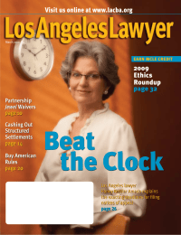 Beat the Clock Visit us online at www.lacba.org 2009