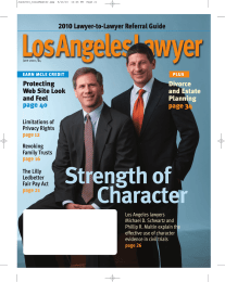 Strength of Character Lawyer-to-Lawyer Referral Guide 2010