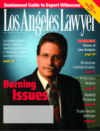 LosAngelesLawyer Semiannual Guide to Expert Witnesses