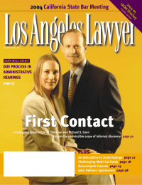 First Contact 2004 California State Bar Meeting DUE PROCESS IN