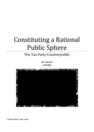 Constituting a Rational  Public Sphere The Tea Party Counterpublic