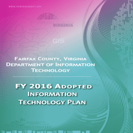 Information Technology Plan FY 2016 A GIS