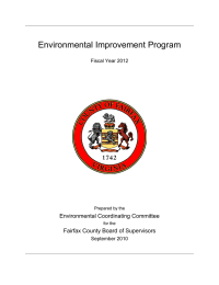 Environmental Improvement Program  Environmental Coordinating Committee Fairfax County Board of Supervisors