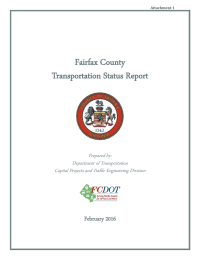 Fairfax County Transportation Status Report February 2016