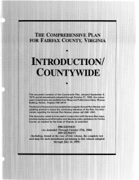 INTRODUCTION/ COUNTYWIDE T H E COMPREHENSIVE PLAN FOR FAIRFAX COUNTY, VIRGINIA