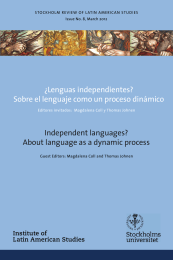 Independent languages? About language as a dynamic process ¿Lenguas independientes?