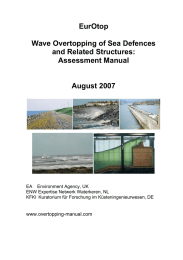 EurOtop  Wave Overtopping of Sea Defences and Related Structures: