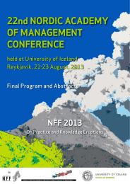 22nd Nordic AcAdemy of mANAgemeNt coNfereNce