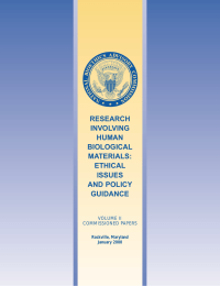RESEARCH INVOLVING HUMAN BIOLOGICAL