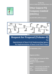 Request for Proposal (Volume-II) Uttar Gujarat Vij Company Limited (UGVCL)
