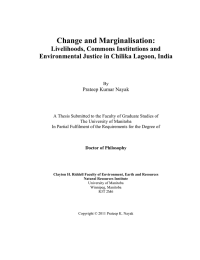 Change and Marginalisation: Livelihoods, Commons Institutions and