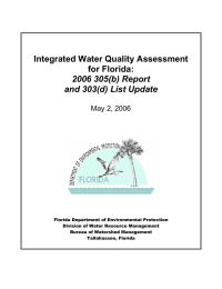 Integrated Water Quality Assessment for Florida: 2006 305(b) Report