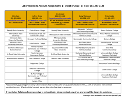 Labor Relations Account Assignments