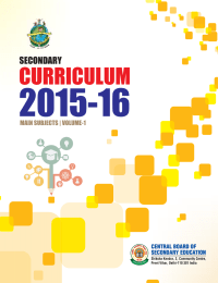 2015-16 CURRICULUM SECONDARY MAIN SUBJECTS | VOLUME-1