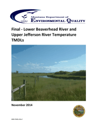 Final - Lower Beaverhead River and Upper Jefferson River Temperature TMDLs November 2014