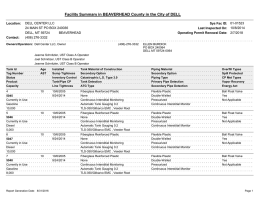 Facility Summary in BEAVERHEAD County in the City of DELL 01-01523