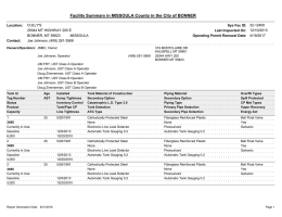 Facility Summary in MISSOULA County in the City of BONNER CULLY'S 32-12400