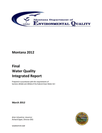 Final Water Quality Integrated Report Montana 2012